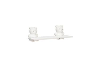 Repisa infantil oso 60x20 blanca - Agua Clara