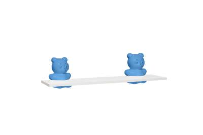 Repisa infantil oso 80x20 blanca - Agua Clara