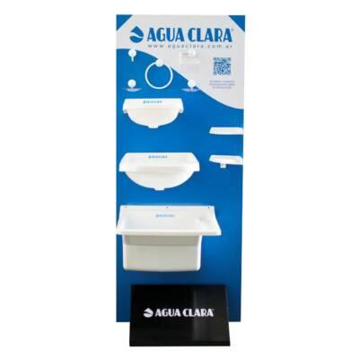 Exhibidor 2 caras   Agua Clara