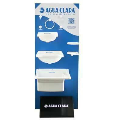 Exhibidor 1 cara | Agua Clara