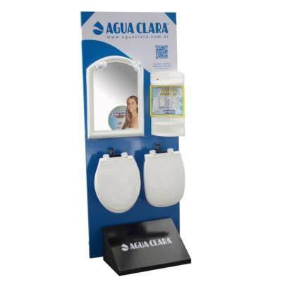 Exhibidor 1 cara   Mod. 2   Agua Clara